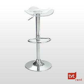 Barhocker - Design - Glas/ Chrom - Acrylglassitzsc 1 / 1