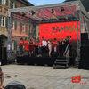 Bühnendach Klarsicht mit Bühne 6mx4m